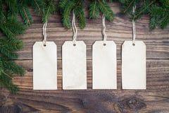 Kerstmisetiketten stock afbeelding