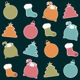 Kerstmisetiketten Stock Foto's