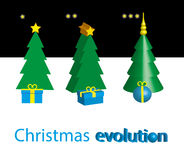 Kerstmisevolutie Royalty-vrije Stock Foto