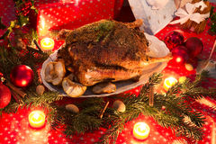 Kerstmisgans Stock Foto's