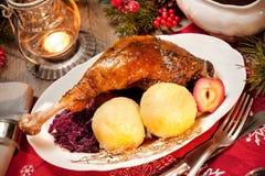 Kerstmisgans Stock Foto