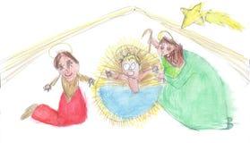 Kerstmisgeboorte van christus Royalty-vrije Stock Foto's