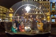 Kerstmisgeboorte van christus in St. Petersburg Stock Foto