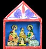 Kerstmisgeboorte van christus van het Heilige Kind Jesus Stock Afbeeldingen