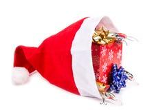 Kerstmisgift in doos voor vissers stock fotografie