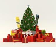 Kerstmisgift het ski?en reis Royalty-vrije Stock Afbeelding