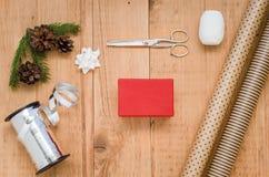 Kerstmisgift het Verpakken Stock Afbeeldingen
