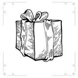 Kerstmisgift op witte backgroun wordt geïsoleerd die Royalty-vrije Stock Fotografie
