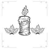 Kerstmisgift op witte backgroun wordt geïsoleerd die Royalty-vrije Stock Foto