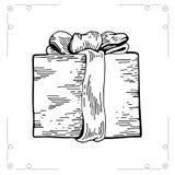 Kerstmisgift op witte backgroun 2 wordt geïsoleerd die Stock Afbeeldingen