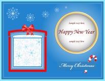 Kerstmisgift van de kaart Royalty-vrije Stock Afbeeldingen