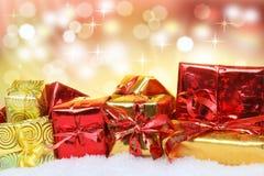 Kerstmisgiften royalty-vrije stock foto's
