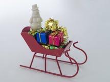 Kerstmisgiften op de slee Royalty-vrije Stock Fotografie