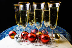 Kerstmisglazen, nieuwe year& x27; s Stock Afbeeldingen
