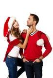 Kerstmisglimlach royalty-vrije stock foto's