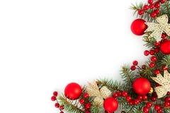 Kerstmisgrens Stock Afbeelding