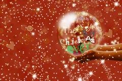 Kerstmisgroet en Kerstman Royalty-vrije Stock Foto's
