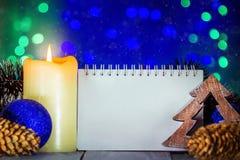 Kerstmisgroet met lege ruimte Stock Foto's