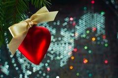 Kerstmishart gevormde ballon Stock Foto