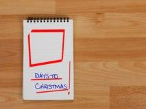 Kerstmisherinnering - het winkelen dagen, komst enz. Royalty-vrije Stock Afbeeldingen
