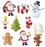 Kerstmishoofdzaak Stock Foto