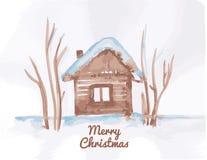 Kerstmisillustratie Royalty-vrije Stock Afbeeldingen