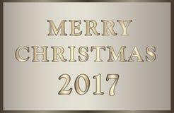 Kerstmisillustratie in gouden-bruine tonen Stock Afbeelding
