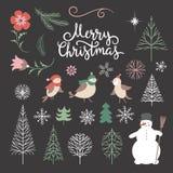 Kerstmisillustratie, Kerstkaart Royalty-vrije Stock Foto