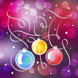 Kerstmisillustratie met het van letters voorzien in 2017 Royalty-vrije Stock Afbeeldingen