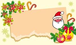 Kerstmisillustratie met Kerstman. Royalty-vrije Stock Foto