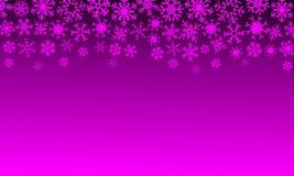 Kerstmisillustratie met sneeuwvlokken op gradiëntachtergrond in roze kleuren stock illustratie