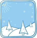 Kerstmisillustratie van het beeldverhaal Stock Afbeelding