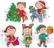 Kerstmisjonge geitjes Stock Fotografie