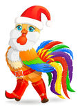 Kerstmisjonge haan Stock Foto