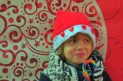 Kerstmisjongen Stock Afbeelding