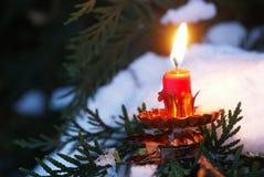 Kerstmiskaars Royalty-vrije Stock Fotografie
