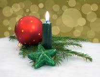 Kerstmiskaars Stock Foto's