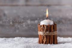 Kerstmiskaars Stock Fotografie