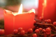 Kerstmiskaars Stock Afbeeldingen