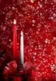 Kerstmiskaarsen Royalty-vrije Stock Foto