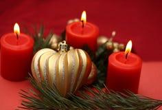 Kerstmiskaarsen royalty-vrije stock afbeelding