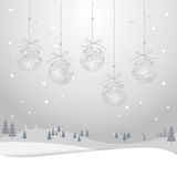 Kerstmiskaart 3_13 stock illustratie
