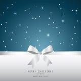 Kerstmiskaart, blauwe achtergrond Royalty-vrije Stock Fotografie