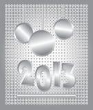 Kerstmiskaart van 2013 Stock Afbeeldingen