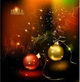 Kerstmiskaart van de winter Royalty-vrije Stock Afbeeldingen