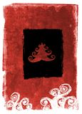 Kerstmiskaart van Grunge - rood royalty-vrije illustratie