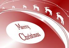 Kerstmiskaart van het rendier Stock Foto's