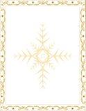 Kerstmiskader met decoratieve elementen Stock Foto's