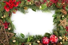 Kerstmiskader met Vrije Ruimte Stock Foto's