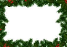 Kerstmiskader op Wit Stock Afbeeldingen